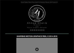 طراحی وب سایت نمونه کار و شخصی احمد غریب
